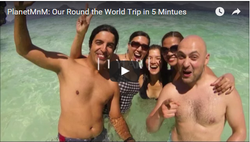 Around the World Trip in 5 min Video